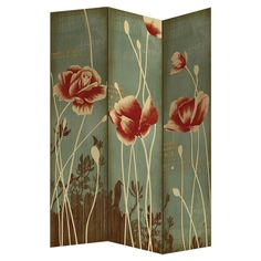 3 panel floral photo printed canvas with gold foil accents room divider shoji screen Print Folding, Room, Coaster Furniture, Sustainable Furniture, Folding Screen, Screen, Divider Screen, Paneling, Wooden Screen