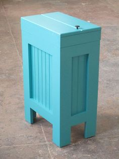 wood wooden kitchen trash bin kitchen garbage can wood trash can turquoise - Wooden Kitchen Trash Container