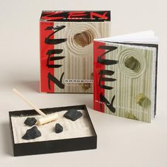 Add a touch of tranquility to your life with our mini Zen garden kit. Great for gifting, it includes a tray, sand, decorative rocks, miniature wooden rake and an instruction book.