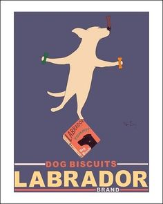 """""""Labrador Brand - Yellow Lab"""" by Ken Bailey in Labrador Life Line Labour of Love Auction"""