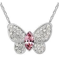 SHDEDE High Quality Crystal from Swarovski Butterfly Pendants Necklaces Fashion Jewelry For Women Female Ladies Gift 6540 Kids Jewelry, Fashion Jewelry Necklaces, Fashion Necklace, Women Jewelry, Jewellery, Green Necklace, Crystal Necklace, Pendant Necklace, Crystal Pendant