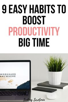 If you want to boost productivity big time, here are 9 good habits and productivity tips for precisely this! Organizing Tips, Organization, How To Be More Organized, College Loans, Finding Motivation, Time Management Strategies, Learning To Say No, Increase Productivity, Self Improvement Tips