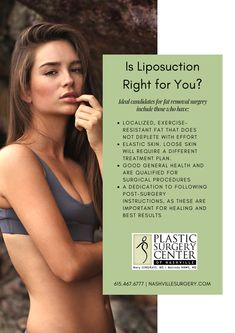 Liposuction Right for You?You (disambiguation) You is the English second-person pronoun. You may also refer to: Plastic Surgery Procedures, Surgery Center, Loose Skin, Skin Elasticity, Body Contouring, Liposuction, Health Promotion, Things To Know, How To Find Out