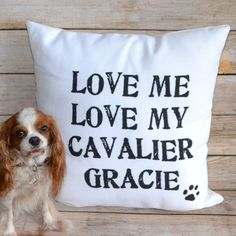 "Custom ""Love My Pet"" Throw Pillow from Monogram Lane"