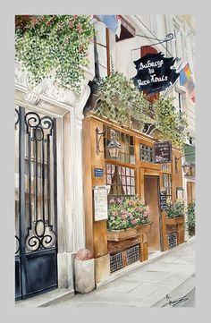Paris. Watercolor.