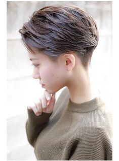 Tomboy Haircut, Androgynous Haircut, Tomboy Hairstyles, Pretty Hairstyles, Asian Short Hair, Asian Hair, Short Hair Cuts, Boho Wedding Hair, Bridal Hair