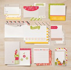 We just can't get enough of those adorable pocket cards from the Seasonal Snapshot collection from Project Life by Stampin' Up! #PLxSU