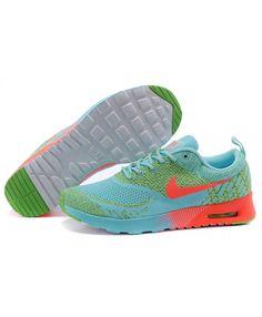 best sneakers 64bb9 ab20b Cheap Nike Air Max 87 Thea Flyknit Aqua Green Orange