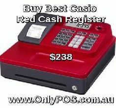 Buy New and Best Casio SE-G1S ECR Red Cash Register from OnlyPOS.