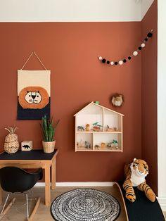 Warm Bedroom Colors, Boy Nursery Cars, Cool Kids Rooms, Toy Rooms, Room Wallpaper, Terracotta, Baby Room, Girl Room, Home Living Room