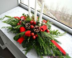 make this evergreen christmas centerpiece, christmas decorations, crafts, how to, seasonal holiday decor