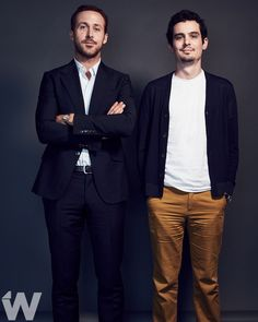 The dapper gentlemen of Have you fallen in love with 'La La Land' yet? (Ryan Gosling & Director Damien Chazelle Photographed by / Creative Director: Damien Chazelle, Toronto Film Festival, Cinema, Dapper Gentleman, Ryan Gosling, Creative Director, Filmmaking, Movies And Tv Shows, Movie Tv