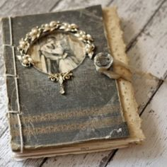 A wonderful way to up-cycle vintage books. Make your own embellished journal.