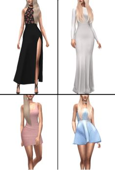Simple day/night dresses #1 Dress #1 by elliesimple Dress #2 by belaloallure3 Dress #3 by metens Dress #4 by waekey