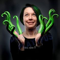 Glow-in-the-Dark-Green-Rubber-FINGER-TENTACLES-Cthulhu-Cosplay-Sets-of-5-or-10