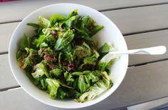 Natjas Abendessen: Sehr vorbildlich! EIn leckerer Blattsalat.