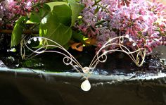 Celtic Silver Moonstone circlet Elven Elvish Headpiece
