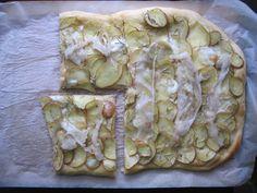 Pizza con patate {à ma façon}