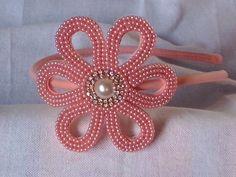 by luciene borges - tiara flor perola e strass - para encomendas clique na imagem