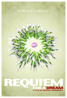 requiem for a dream Excellent cinematography. The harsh reality of drug addiction splayed out for the world. Nice Dream, Dream Art, Minimal Movie Posters, Cinema Posters, Excellent Movies, Good Movies, Requiem For A Dream, Play Poster, Darren Aronofsky
