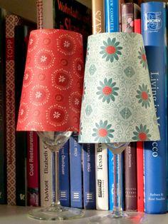 Do It Yourself -Idee: Teelicht - Lampe aus Weingläser  MIT TEMPLATE! (Cinnamon Home)