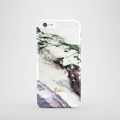 """""""Aubergine"""" / feature with Perfect white purple and dark green stone printed iPhone cover.  #marble #case #paletto"""