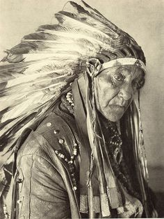 Oklahoma. Big Chief White Horse Eagle of the Osagi Tribe