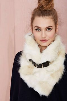 Nasty Gal Neck Yourself Faux Fur Scarf. women's fashion and style. Fur Fashion, Womens Fashion, Sporty Fashion, Fabulous Furs, Cold Weather Fashion, Fake Fur, Scarf Hat, Mode Inspiration, Fur Collars