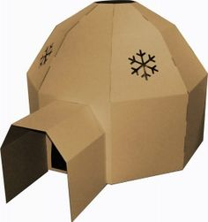 Igloo Kids' Playhouse, Brown - contemporary - Kids Toys & Games - Other Metro - EcoCentric Cardboard Crafts Kids, Cardboard Playhouse, Cardboard Castle, Cardboard Toys, Cardboard Furniture, Cardboard Houses For Kids, Un Igloo, Eco Friendly Toys, Dramatic Play