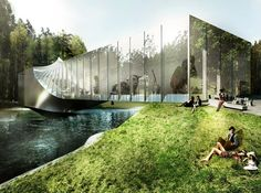 bjarke ingels group has revealed plans for a twisted museum building to be constructed on the grounds of #norway's kistefos sculpture park. #bjarkeingelsgroup #architecture @bjarkeingels  read more just published on #designboom.com