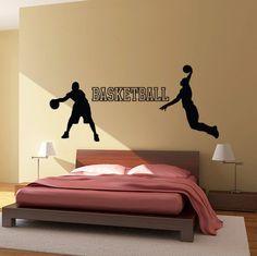 Basketball Wall Decal Set - Vinyl Sticker - Kids Room 26612fbd235b3