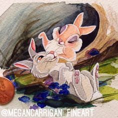 Thumper & Mrs. Thumper uncropped print. 3x3 by 18thCenturyShop...perfectly adorable and romantic and I need it