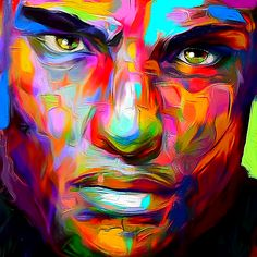 OVAB / Portrait 53 Mixed media digital / acrylic on canvas 2016 copyright my page facebook.com/...
