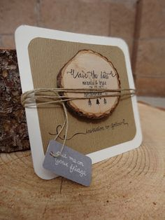 My Woodland Wedding Save the Dates | when life gives you lemons.....