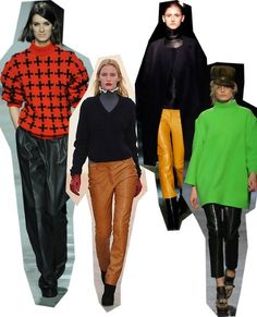 Leather Trousers. London Fashion Week trends autumn/winter 2012