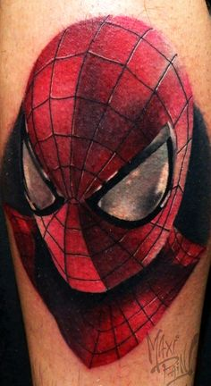 Spiderman, tattoo by Maxi Pain! Bs As Argentina. Spiderman Tattoo, Bs As, Plugs, Piercings, Comic, Superhero, Tattoos, Art, Argentina
