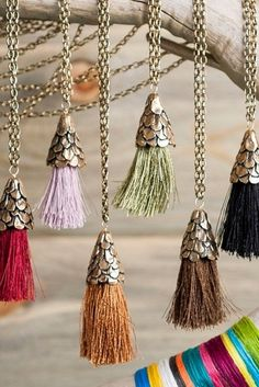 Swish your way into fall with an appropriately colored tassel necklace