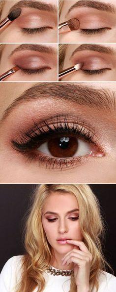 Make-up für braune Augen . Brown Eye Make-up . How To Make Brown, Eye Make Up, Makeup For Brown Eyes, Smokey Eye Makeup, Makeup Eyeshadow, Diy Makeup, Makeup Tips, Makeup Ideas, Face Makeup