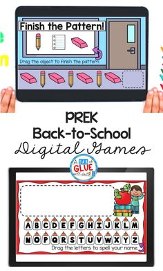 PreK Back-to-school Digital Games and Activities for our littlest learners. Kids enjoy working on these activities in a digital format. Fun Learning, Preschool Activities, Teaching Kids, Small Group Activities, Hands On Activities, Early Years Classroom, Classroom Routines, School Games, Little Learners