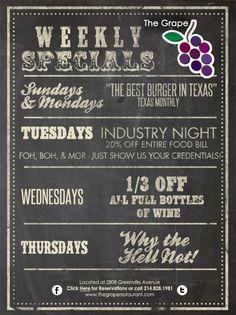 The Grape Restaurant   Classic. Urban. Bistro   Greenville Ave., Dallas, TX