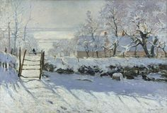 """Claude Monet - Circa 1868-1869.  """"The Magpie"""" found in Musee d'Orsay, Paris, France"""