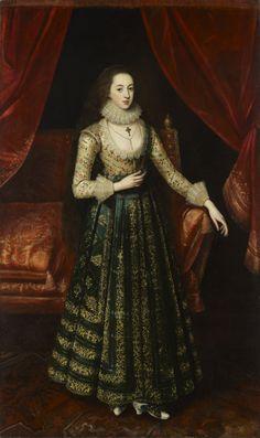Probable portrait of Vere Egerton by Robert Peake (1541-1619)