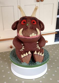 Gruffalo made for Sophie's birthday. Chocolate cake carved and covered and decorated with modelling chocolate. Gruffalo Party, Girl Birthday, Birthday Cake, Birthday Chocolates, Cake Shapes, Monster Party, Party Activities, Awesome Cakes, Cake Decorations