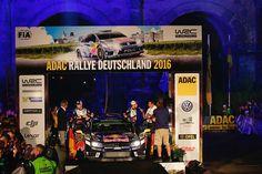 Andreas Mikkelsen und Anders Jæger während der Startzeremonie in Trier bei der Rallye Deutschland / Deutschland Rallye 2016 #AndreasMikkelsen #mikkelsen #AndersJæger #Jæger #rallyedeutschland #deutschlandrallye #rallygermany  www.Motorsport-Freelancer.de  #vwpolo #rallyevwpolo #rallyevwpolowrc #rallyevwpolorwrc  #volkswagenmotorsport #vw #volkswagen #wrc  Bildquelle: Volkswagen Motorsport Content & Media pool