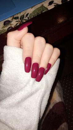 Trendy Nails, Cute Nails, My Nails, Fake Nails Walmart, Nail Polish Designs, Nail Art Designs, Dark Pink Nails, Bella Nails, Plain Nails