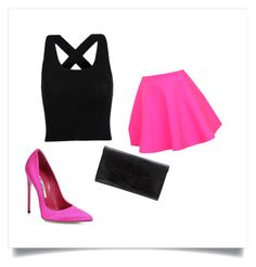 """Untitled #43"" by sara-omerovic ❤ liked on Polyvore featuring UNIF, Gallard and Brian Atwood"