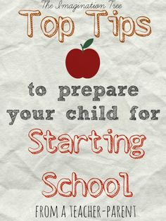 Top Tips to prepare your child for starting school