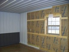 Insulation And Interior Metal Liner Barn House Interior Barn