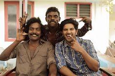 Manikandan, Vinayakan and Dulquer at location