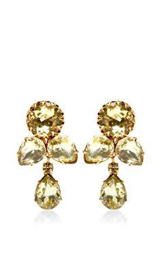 House of Lavande 1950s Gold Earrings